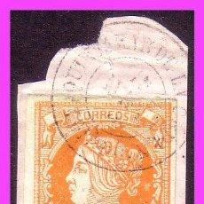 Selos: 1860 ISABEL II, EDIFIL Nº 52, MATASELLO FECHADOR QUINTANAR DE LA ORDEN (TOLEDO) (O) . Lote 37364405