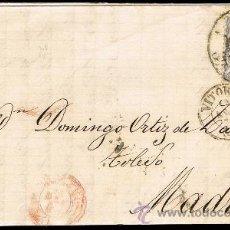Sellos: ALAVA - EDI O 107 - CARTA CIRC DE VITORIA A MADRID - RC 48 VITORIA. Lote 37810602