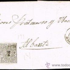 Sellos: ALBACETE - EDI O 133 + 141 - CARTA CIRC. A ALBACETE 1874 - ROMBO CON PUNTOS. Lote 38084455