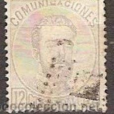 Sellos: SELLO ESPAÑA REINADO AMADEO I EDIFIL 122 AÑO 1872 CORONA REAL CIFRAS AMADEO I USADO FIJASELLOS . Lote 38217452