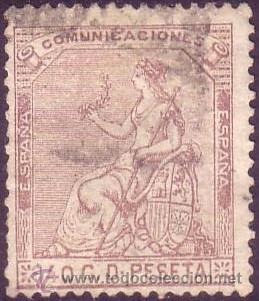 ESPAÑA. (CAT. 136). 40 CTS. MUY BONITO. (Sellos - España - Amadeo I y Primera República (1.870 a 1.874) - Usados)