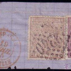 Sellos: ESPAÑA. (CAT.148,153).1875. RARÍSIMO FRANQUEO DE 10 Y 40 CTS. MAT. FRANCÉS DE MARSELLA. MAGNÍFICO.. Lote 24289960