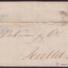 Sellos: ESPAÑA.(CAT.107/GRAUS 139-VII).1872.CARTA DE SANTANDER A SEVILLA.50 MLS. FALSO POSTAL TIPO VII. RR.. Lote 26975446