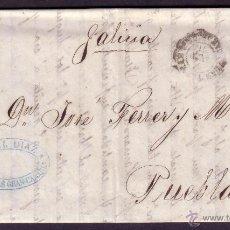 Sellos: ESPAÑA.(CAT. 107).1871. CARTA DE LAS PALMAS A PUEBLA. 50 M. MAT.* LAS PALMAS (CANARIAS) *. MUY RARA.. Lote 26925706