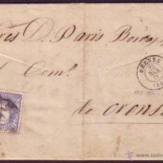 Sellos: ESPAÑA. (CAT. 107B). 1871. CARTA DE GUDIÑA (ORENSE) A ORENSE. 50 MLS. ENCAMINADA POR PARTICULAR. RR.. Lote 38446916