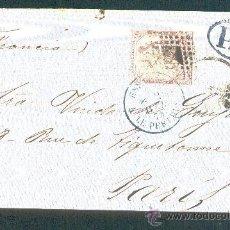 Sellos: 1874.- VALENCIA A PARIS (FRANCIA). Lote 40220735