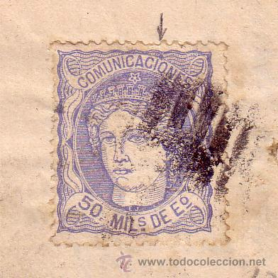 Sellos: Carta de Zaragoza a Sevilla, franqueada con el sello nº 107 - Foto 2 - 12938066