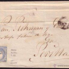 Sellos: ESPAÑA. (CAT. 107/GRAUS 139-VII). 1871. CARTA DE SAN FERNANDO (CÁDIZ). 50 MLS. FALSO POSTAL T. VII. Lote 38430985