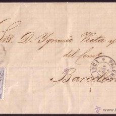 Sellos: ESPAÑA.(CAT.121).1873.CARTA DE PALENCIA A BARCELONA.10 C.FECHADOR PALENCIA MODIFICADO CON ESTRELLAS.. Lote 25358823