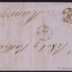 Sellos: ESPAÑA. (CAT. 107). 1870. CARTA DE IGUALADA A MANRESA. 50 MLS. MAT. *YGUALADA/BARCELONA*. MAGNIFICA.. Lote 24565184