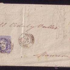 Sellos: ESPAÑA. (CAT. 107). 1870. CARTA DE IGUALADA A MANRESA. 50 MLS. MAT. *YGUALADA/BARCELONA*. MAGNÍFICA.. Lote 25704853