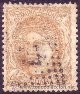 ESPAÑA. (CAT. 113). 12 CTOS. MUY BONITO. (Sellos - España - Amadeo I y Primera República (1.870 a 1.874) - Usados)