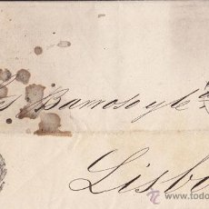 Sellos: CARTA ENTERA DE CÁDIZ A LISBOA. 1871. FRANQUEO DE 50 MILÉSIMAS PESE A SER CARTA DIRIGIDA A PORTUGAL. Lote 41418905
