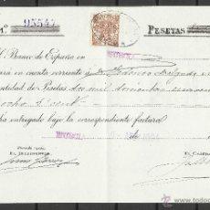 Sellos: A137- DOCUMENTO CON SELLO FISCAL AÑO 1904 MURCIA BANCO DE ESPAÑA FEDERICO DELGADO MORALES,SPAIN. Lote 41573148