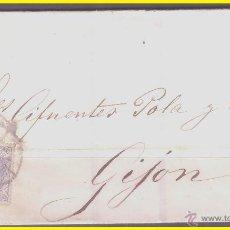 Sellos: 1870 GOBIERNO PROVISIONAL, CUBIERTA DE MADRID A GIJÓN, EDIFIL Nº 107. Lote 42214672