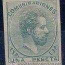 Sellos: AMADEO I.- 1872- Nº 127 S X.- COLOR VERDE-GALVEZ Nº 796. Lote 42826649