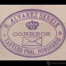 Francobolli: CL2-611 FRANQUICIA DEL CARTERO PRAL. HONORARIO RAFAEL ALVAREZ SEREIX - EDIFIL ESPECIALIZADO Nº 8 . Lote 43002633