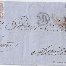 Sellos: CARTA ENTERA CIRCULADA A FRANCIA CON SELLO DE 40 CÉNTIMOS. 1874. Lote 43006629