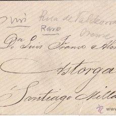 Sellos: SOBRE MECÁNICO DE RUA DE VALDEORRAS (ORENSE) A ASTORGA. MATRONA. ROMBO PUNTOS.. Lote 44301762