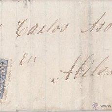 Sellos: CARTA ENTERA DE LLANES. ASTURIAS. A AVILÉS. EDIFIL 107. MATRONA. AL DORSO LLEGADA.. Lote 45419165