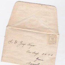 Sellos: SOBRE CON SELLO UN CUARTO DE PESETA DE 1872. Lote 45501204