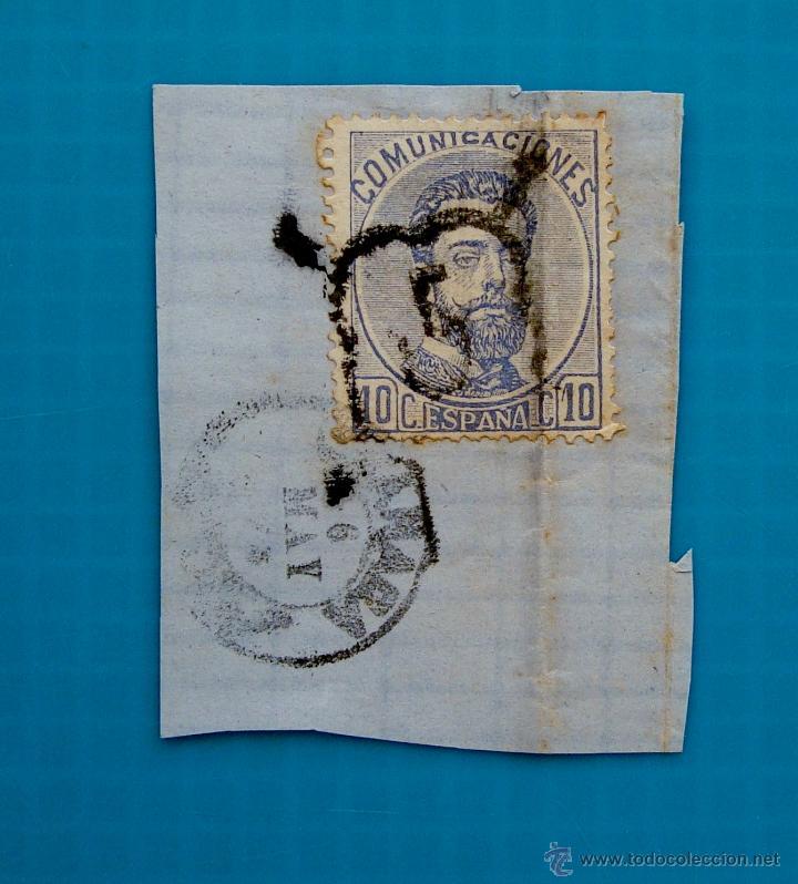 CARTA ESPAÑA AÑO 1872 EDIFIL 121 MATASELLOS DE ARAÑA CON EL NUMERO 5 DE GRANADA A CULLERA VALENCIA (Sellos - España - Amadeo I y Primera República (1.870 a 1.874) - Cartas)