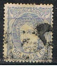E 644** EDIFIL 107** 1870** USADO (Sellos - España - Amadeo I y Primera República (1.870 a 1.874) - Usados)