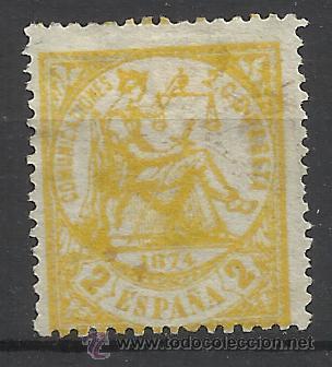 PRIMERA REPUBLICA 1874 EDIFIL 143 NUEVO* VALOR 2014 CATALOGO 35.-- EUROS (Sellos - España - Amadeo I y Primera República (1.870 a 1.874) - Nuevos)