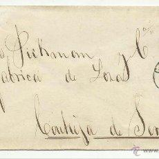 Sellos: CARTA CIRCULADA 1872 DE CADIZ A SEVILLA CON MATASELLO LLEGADA AL DORSO. Lote 47455397