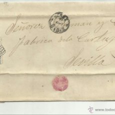 Sellos: ENVUELTA CIRCULADA Y ESCRITA 1872 DE JEREZ CADIZ A SEVILLA CON MATASELLO ROMBO DE PUNTOS. Lote 47455528