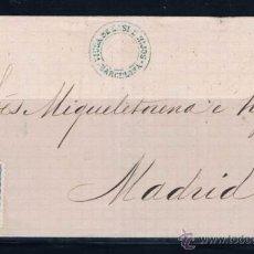 Sellos: 1872 BARCELONA A MADRID. Lote 49357593