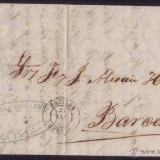 Sellos: ESPAÑA. (CAT. 107). 1871. CARTA DE ÁGUILAS A BARCELONA. 50 MLS. MAT. * ÁGUILAS/MURCIA *. MUY BONITA.. Lote 49587027