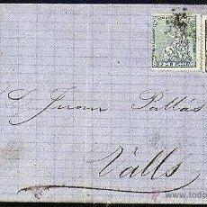 Sellos: CARTA EDIFIL 133 + 141 BARCELONA - VALLS. Lote 8232264