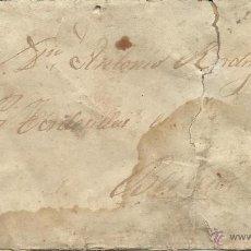 Sellos: CARTA CON SELLO DE AMADEO I PARA TORDESILLA DE VALLADOLID Y FECHADOR POR DETRAS. Lote 50770152