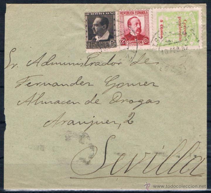 ALGODONALES/ SEVILLA (Sellos - España - Amadeo I y Primera República (1.870 a 1.874) - Cartas)