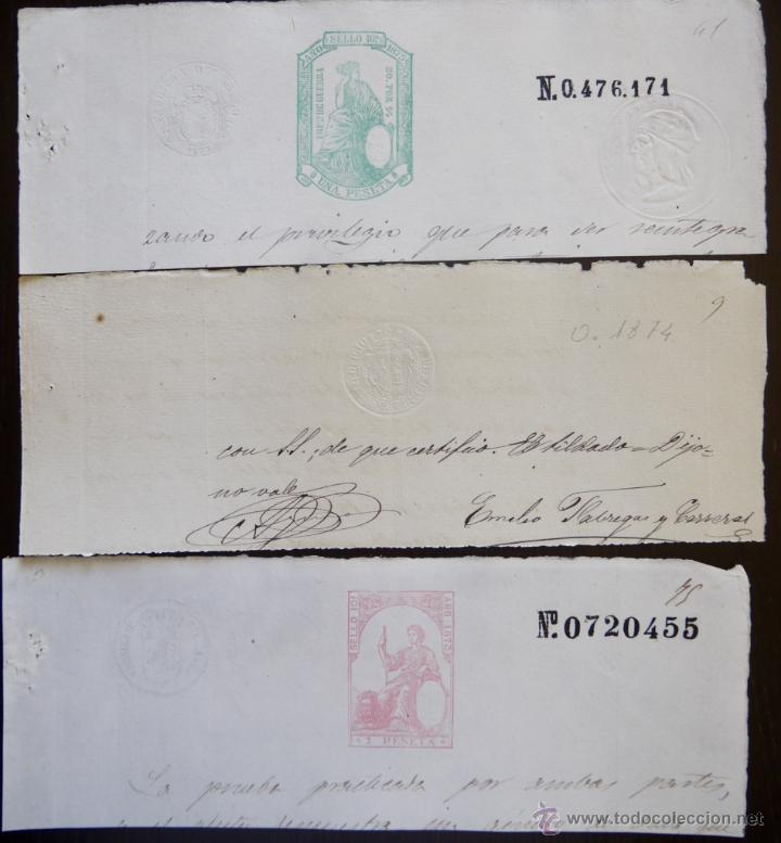 Sellos: SELLOS CLASICOS FISCALES 1873, 1874 Y 1875. ANTIGUOS SELLOS FISCALES TIMBROLOGIA FILATELIA FISC - Foto 1 - 51388473