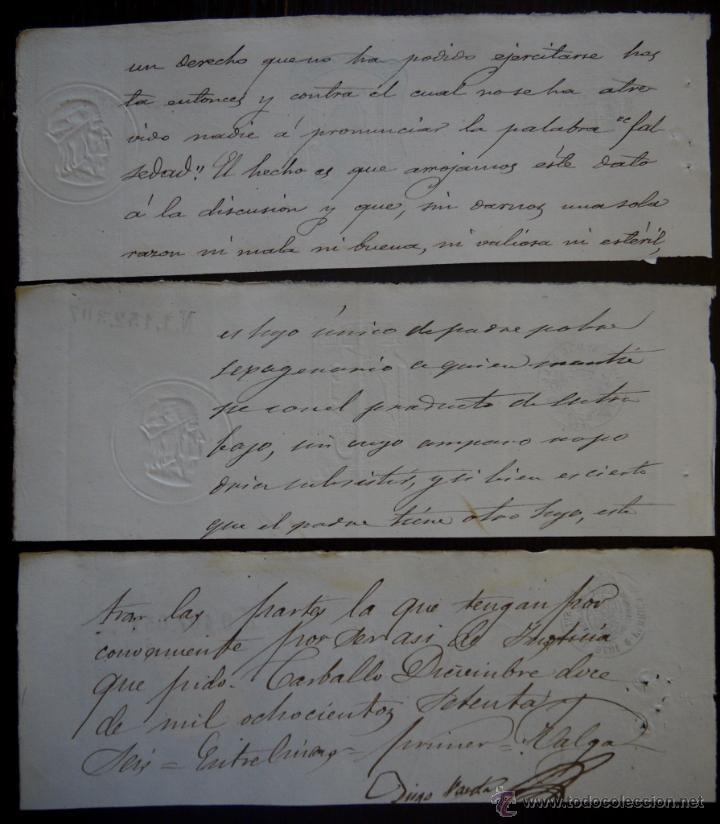 Sellos: TRES SELLOS CLASICOS FISCALES 1875, 1875 Y 1876. ANTIGUOS SELLOS FISCALES TIMBROLOGIA FILATELIA FISC - Foto 2 - 51388625
