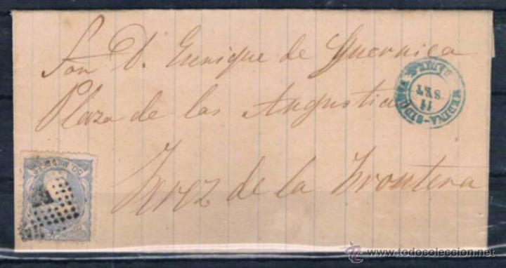 1871.- MEDINA SIDONIA A JEREZ (Sellos - España - Amadeo I y Primera República (1.870 a 1.874) - Cartas)