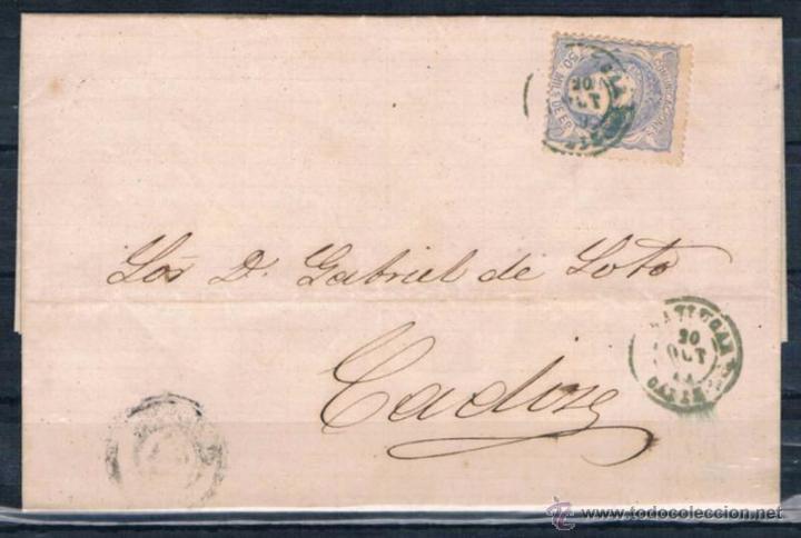 1870.- SANLUCAR A CADIZ (Sellos - España - Amadeo I y Primera República (1.870 a 1.874) - Cartas)