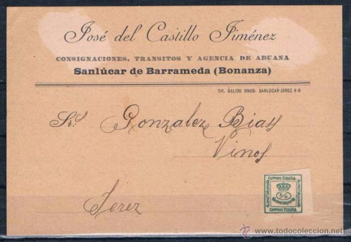 SANLUCAR A JEREZ (Sellos - España - Amadeo I y Primera República (1.870 a 1.874) - Cartas)