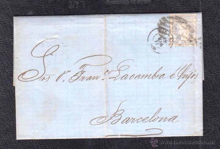 1870.- BILBAO A BARCELONA (Sellos - España - Amadeo I y Primera República (1.870 a 1.874) - Cartas)