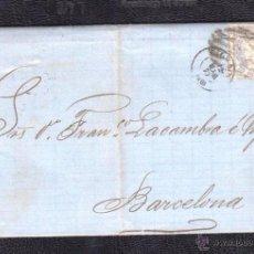 Sellos: 1870.- BILBAO A BARCELONA. Lote 53001661