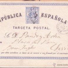Selos: F12-28-ENTERO POSTAL MOGUER (HUELVA)- SEVILLA 1874. Lote 196050297