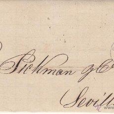 Sellos: CARTA ENTERA NUM. 121 1873 DE MANUEL RIERA DE CÁDIZ A SEVILLA -----MATASELLOS ROMBO Y FECHADOR---. Lote 53592950