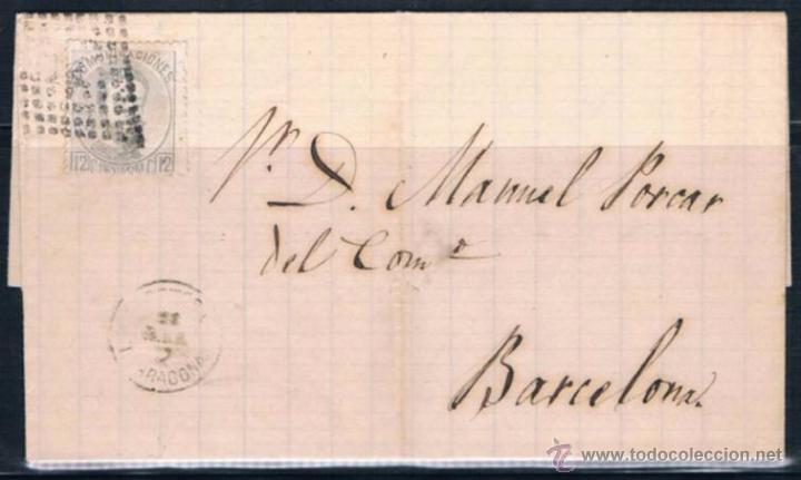 1873.- TORTOSA A BARCELONA (Sellos - España - Amadeo I y Primera República (1.870 a 1.874) - Cartas)