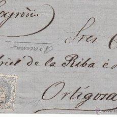 Sellos: ENVUELTA CON SELLO NUM. 107 A ORTIGOSA CON MATASELLOS DE ARACENA -HUELVA-. Lote 54076620