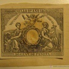 Sellos: SELLO 11º. AÑO 1878. 50 CENT. DE PESETA. 4.5 X 5.5 CM. Lote 54415462