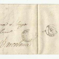 Sellos: CIRCULADA 1873 DE VALLS TARRAGONA A BARCELONA VER FOTO. Lote 54638287