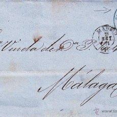 Sellos: ENVUELTA CON SELLO NUM. 107 DE FABRA PONTE Y CIA DE MADRID A MÁLAGA--1871--CON SELLO FECHAD EMPRESA. Lote 55078815
