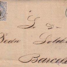 Sellos: CARTA COMPLETA CON SELLO NUM. 107 DE JUAN BARNILS DE TARRAGONA A BARCELONA----1870----. Lote 55078994